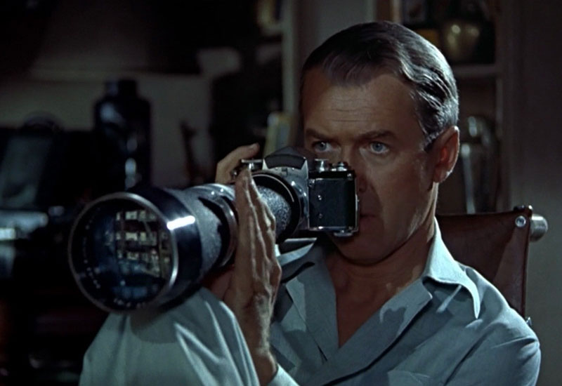 James Stewart in Rear Window (Alfred Hitchcock)