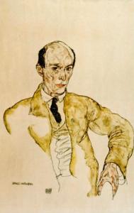 Schiele, portet van Arnold  Schonberg, 1917.