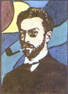 Portret Kandinsky, door Gabrielle Munter, 1906.