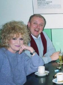Dusty Springfield en Pieter van der Zwan in Amsterdam, 1989.