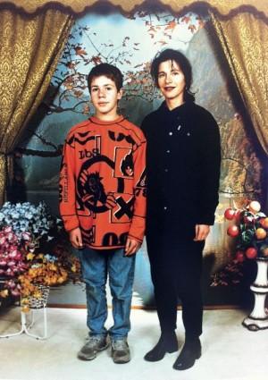 Jan Hoek en zijn moeder