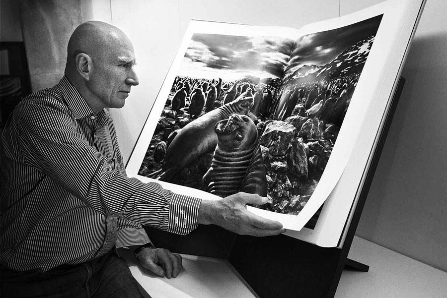 Salgado bladert in zijn fotoboek Genesis